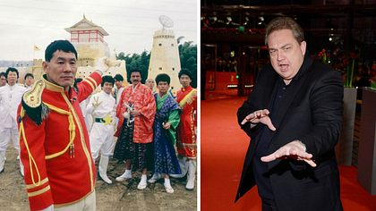 Takeshis Castle: Takeshi Kitano und Oliver Kalkofe - Foto: Getty Images / Clemens Bilan / RTL Nitro