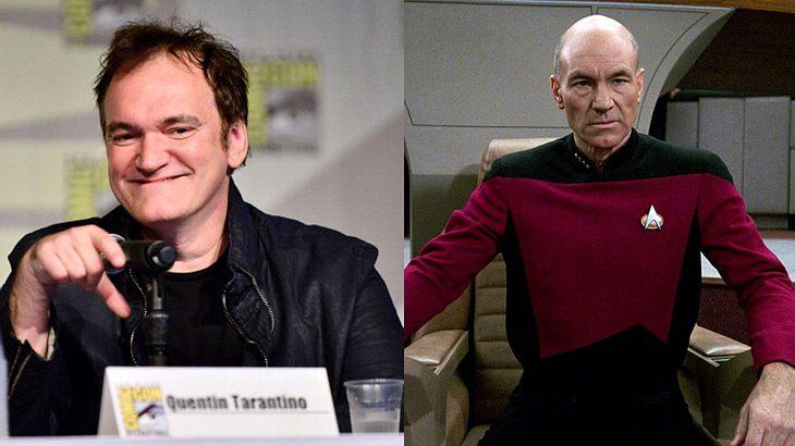 Quentin Tarantino und Patrick Stewart als Jean-Luc Picard