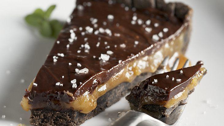 Schokoladen-Karamell-Tarte mit Fleur de Sel