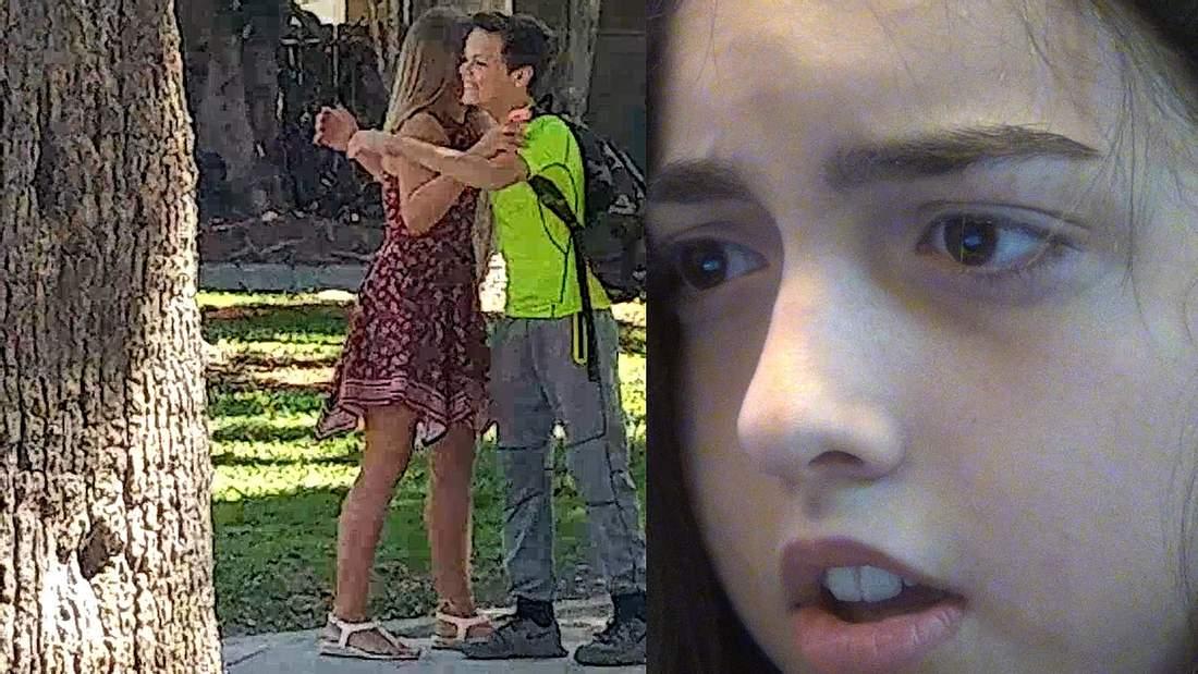Ein Mädchen testet die Treue ihres Freundes