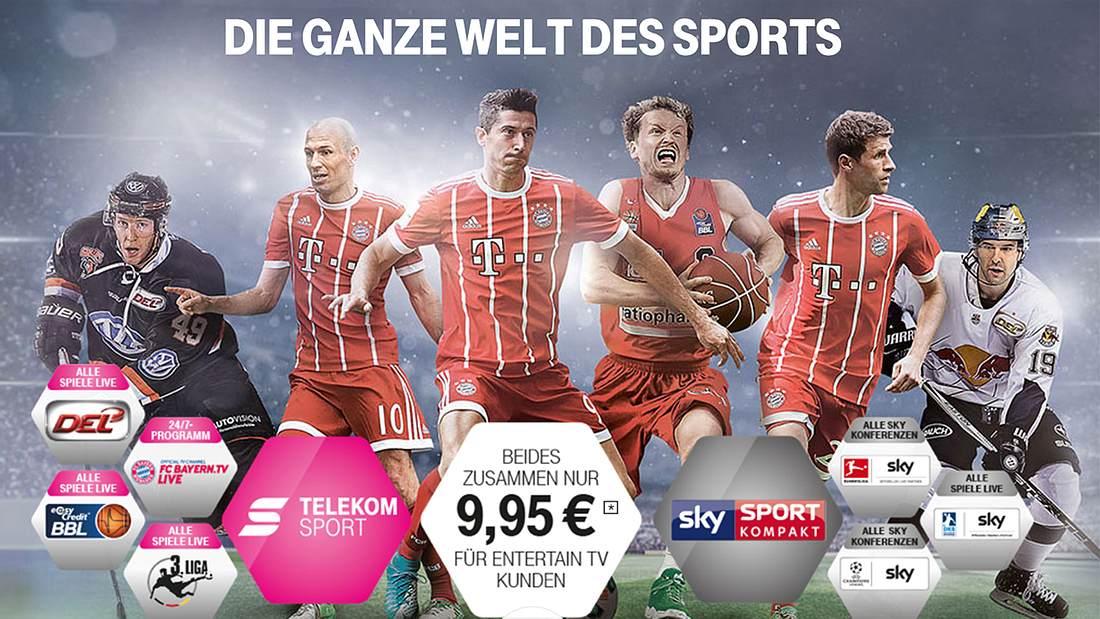 Telekom Sport mit Sky Sport kompakt: Die Bundesliga und Champions League bei der Telekom