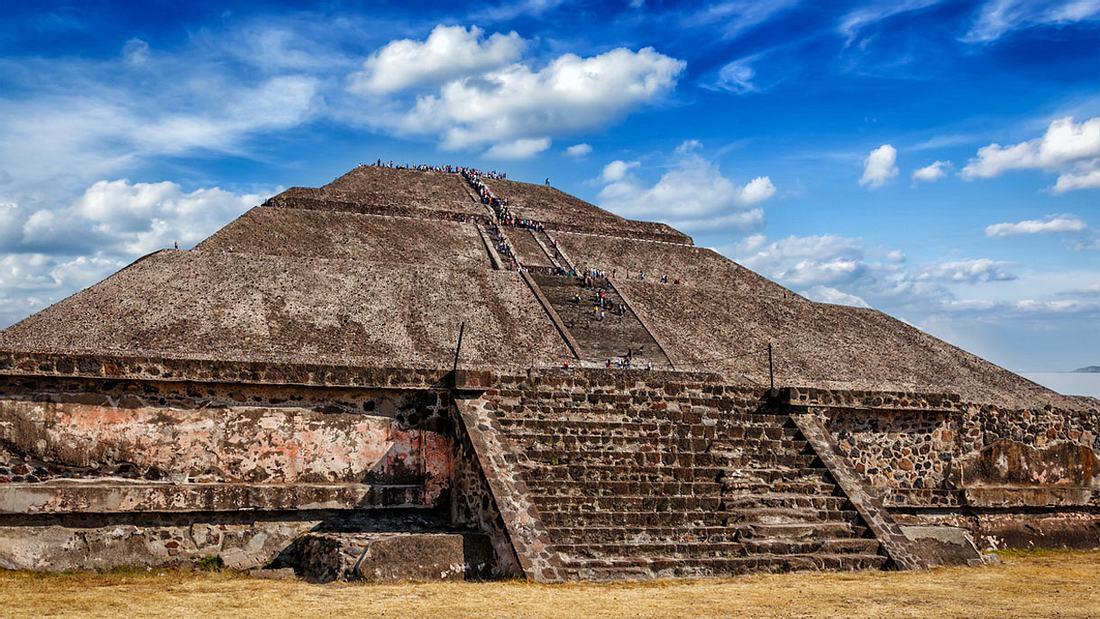 Pyramide der Sonne. Teotihuacan, Mexiko