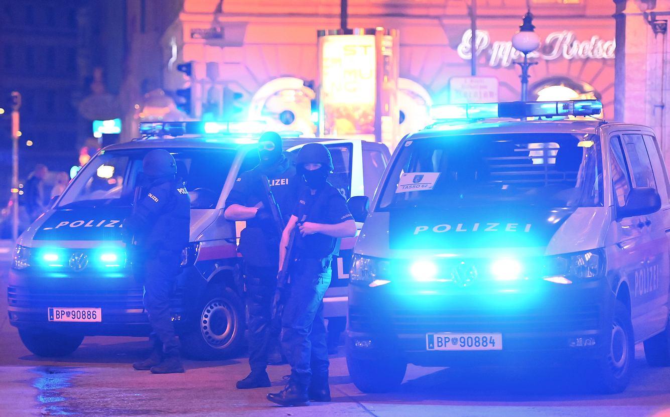 Sicherheitskräfte in Wien