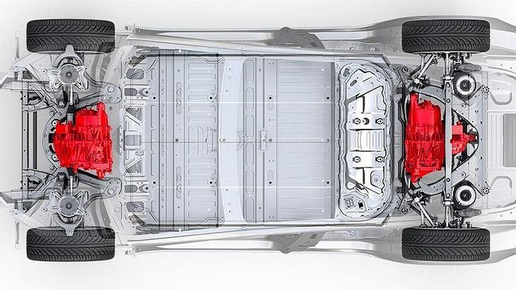 Tesla Model 3 mit zwei Motoren für den Allradantrieb