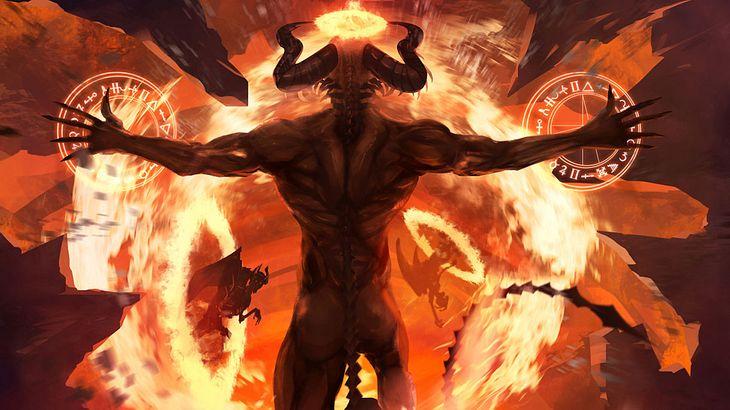 Dämonen steigen aus der Höllen auf