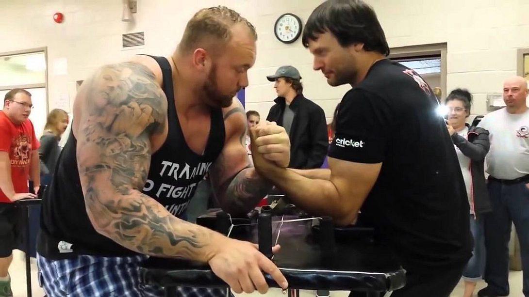 Kraftprobe: The Mountain vs. Armdrück-Weltmeister