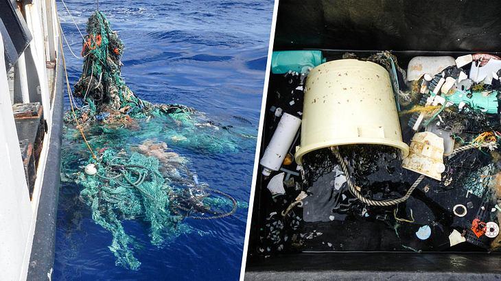 Bei Untersuchungen wurden Tonnen von Plastikmüll aus dem Meer gefischt