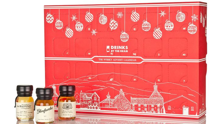 "Der Whisky-Adventskalender von ""Drinks by the Dram""."