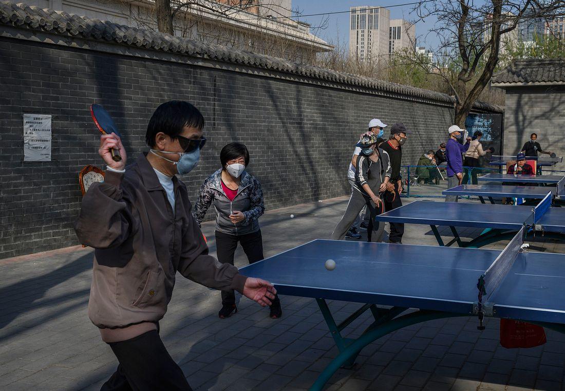 Tischtennis in Wuhan