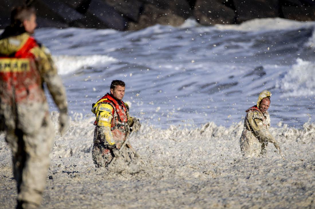 Rettungskräfte am Strand von Scheveningen