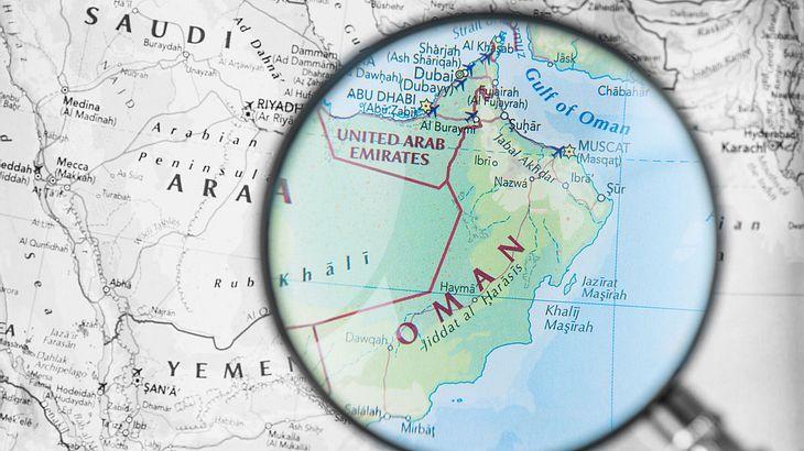 Karte des Golf von Oman
