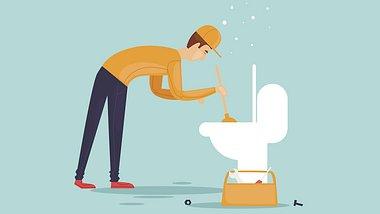 Klo verstopft - was tun? Die besten Tipps und Tricks bei verstopfter Toilette