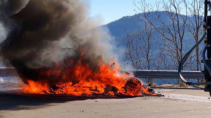 Brennende Alpine A110