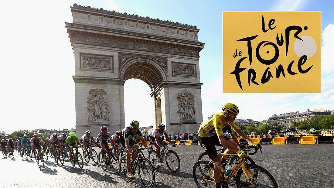 Die Tour de France in Paris.