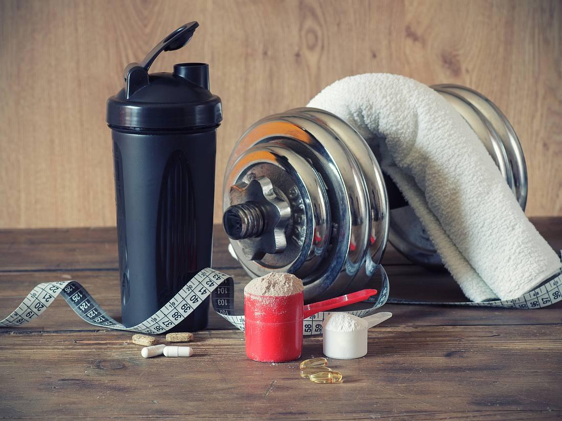 Proteinpulver zum Muskelaufbau