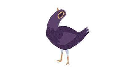 Trash Doves: Das steckt hinter dem lila Vogel auf Facebook