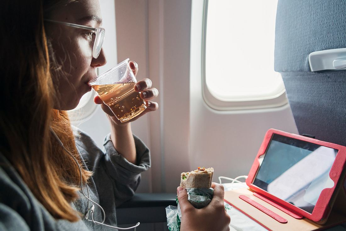 Trinken im Flieger