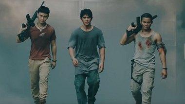 Tiger Hu Chen, Iko Uwais und Tony Jaa (v.l.n.r.) in Triple Threat - Foto: Koch Media