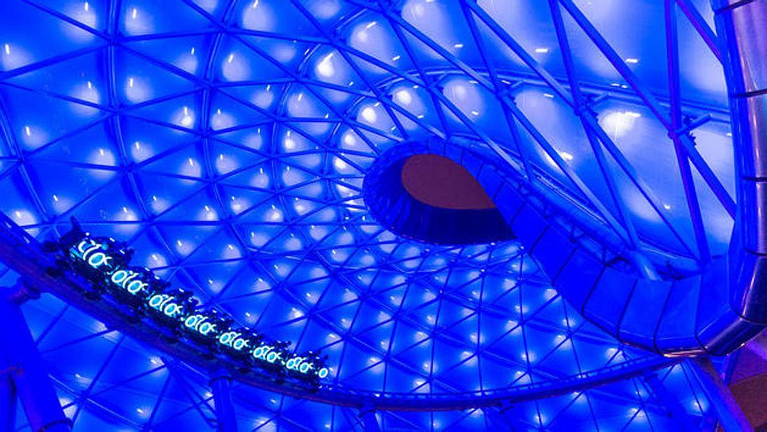TRON Lighcycle Power Run: Eine der großen Attraktionen im Disneyland Shanghai