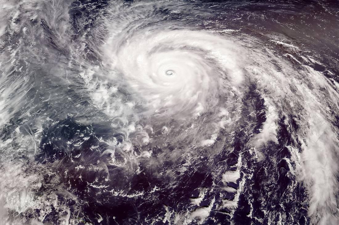 Satellitenbild eines Sturms