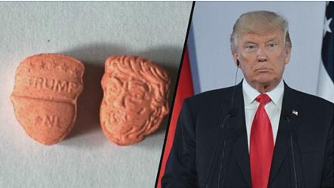 Donald-Trump-Ecstasy: MDMA-Pillen in Form des Gesicht des US-Präsidenten sind im Umlauf