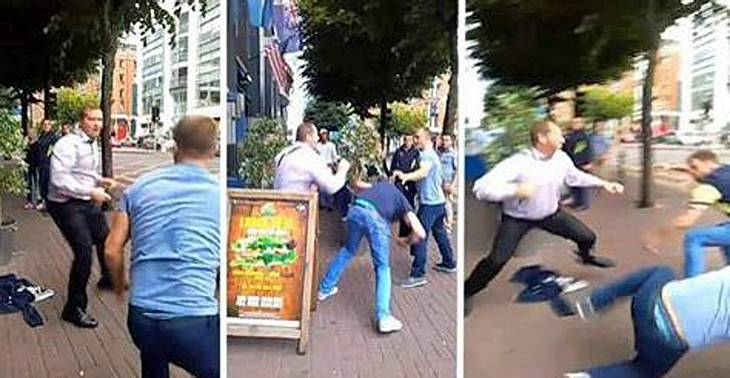 Ein Türsteher in Dublin verprügelt zwei betrunkene Angreifer