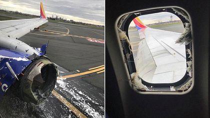 Nach Turbinenexplosion: Mutter wird in 11.000 Meter Höhe aus dem Flugzeug gesaugt