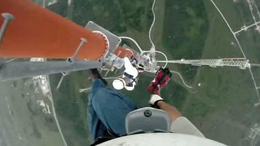 GoPro-Schocker: Mann klettert ungesichert auf 500-Meter-Masten