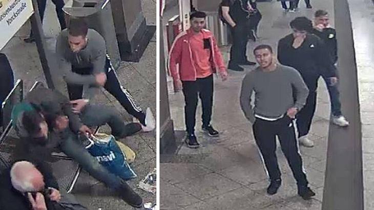 U-Bahn-Schläger: Die Berliner Polizei fahndet nach diesen 16 bis 20-jährigen Männern, die einen Obdachlosen brutal attackiert haben