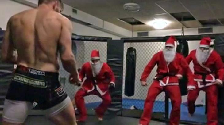 """UFC-Kämpfer Emil """"Valhalla"""" Meek verprügelt drei Weihnachtsmänner"""