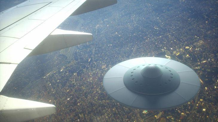 Ufo-Sichtung im Flugzeug