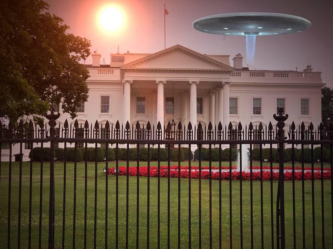 UFO über dem Weißen Haus