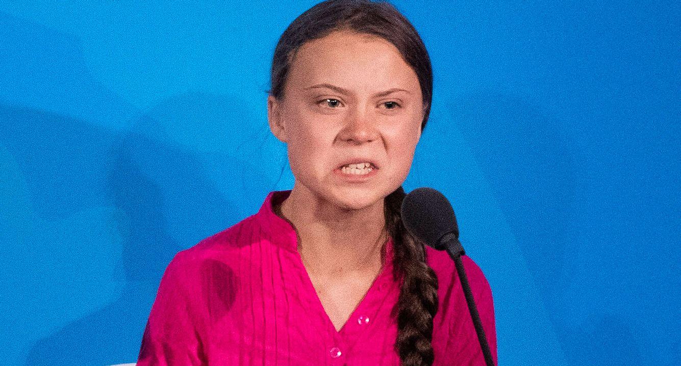 Greta Thunberg mit ernster Miene