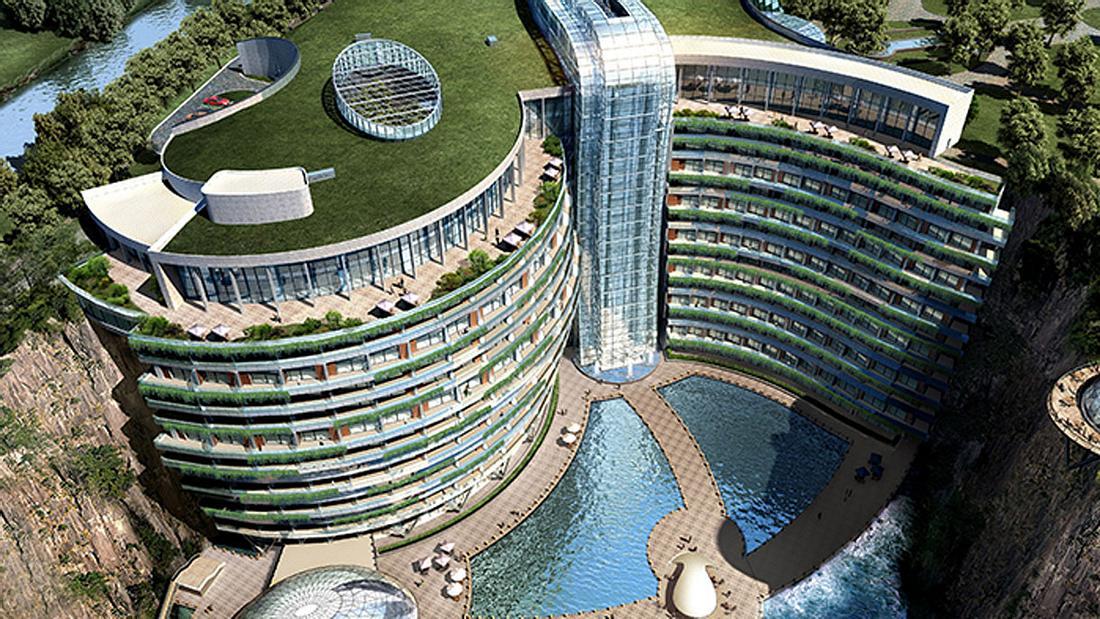 Unterwasserhotel InterContinental Shanghai Wonderland.