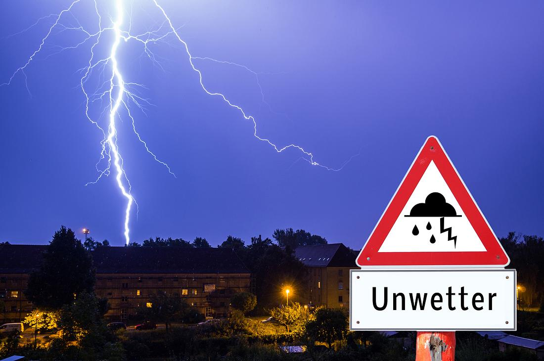 Unwetter über Deutschland