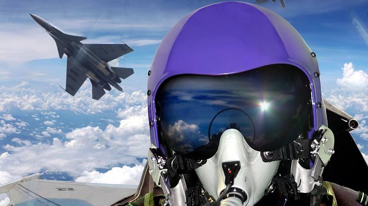 US-Kampfpilot malt mit Jet einen Penis an den Himmel
