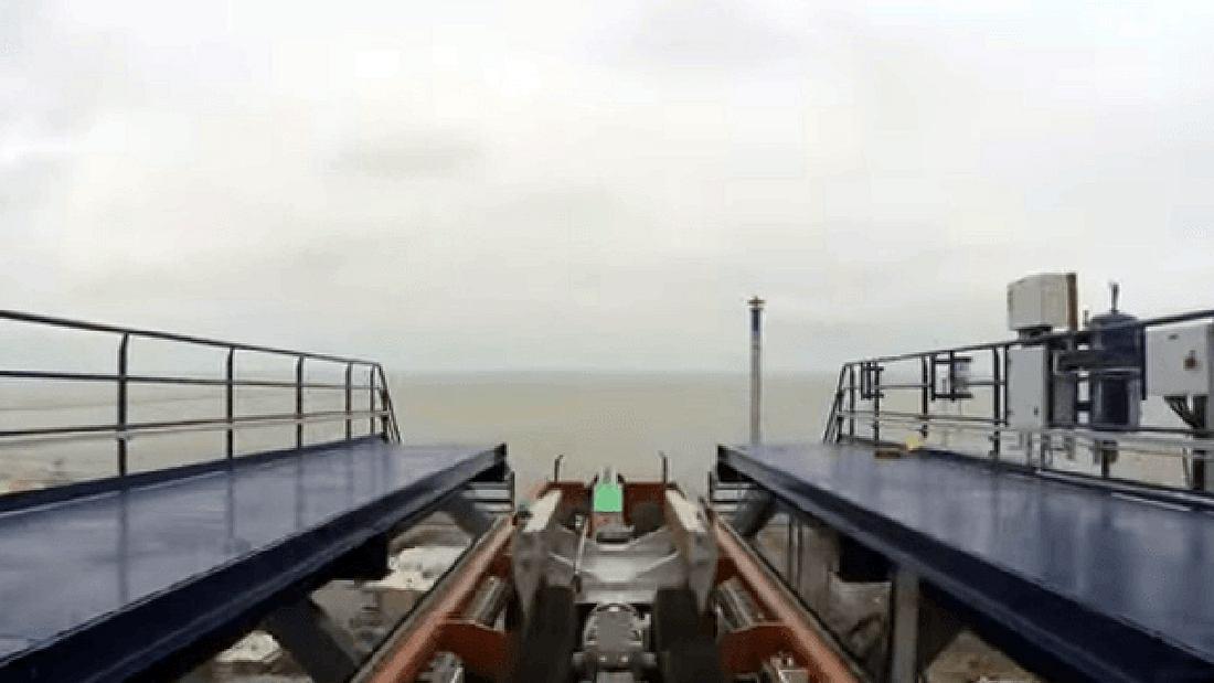 Rekord-Achterbahn: Die Valravn im Cedar Point in Ohio ist der größte, schnellste und steilste Dive Coaster der Welt.