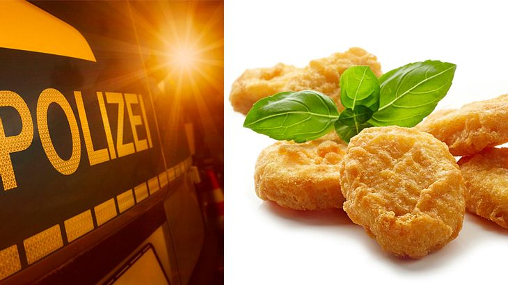 Veganerin ruft Polizei wegen Chicken-Nuggets-Verzehr (Symbolfoto/Collage)