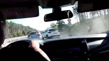 Polizei-Video: Verfolgungsjagd auf der A12