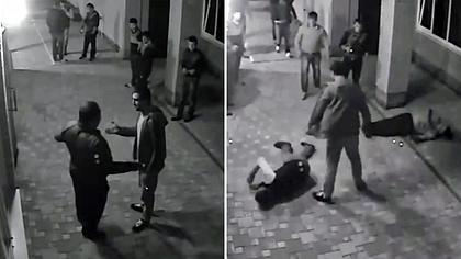 Profi-Boxer Nicolai Vlasenko knockt russische Gangster vor einer Bar aus - Foto: YouTube/WilheminaWilliam