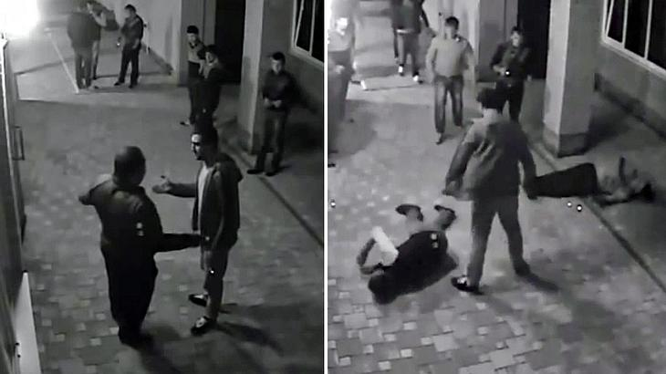 Profi-Boxer Nicolai Vlasenko knockt russische Gangster vor einer Bar aus