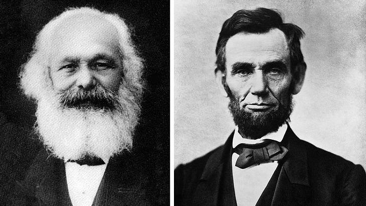 Bartträger in der Geschichte: Karl Marx und Abraham Lincoln