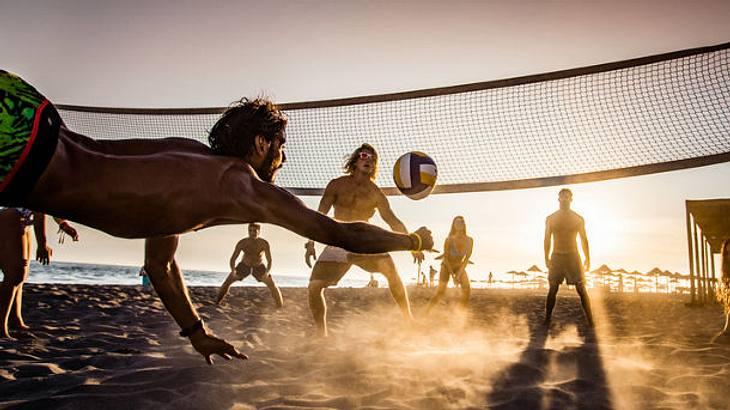 Volleyballnetz Strand