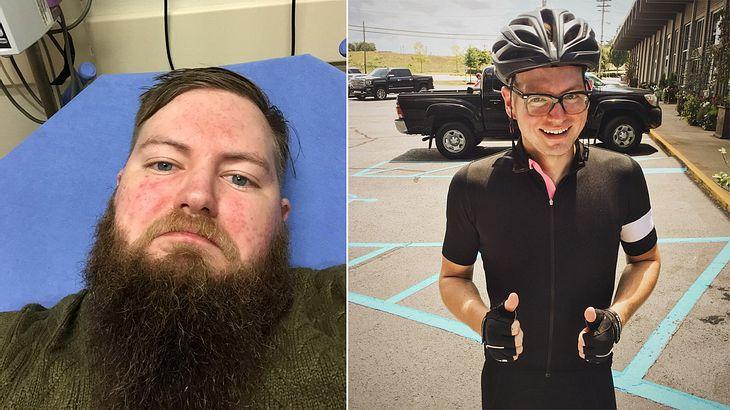Männer zeigen, wie stark zu viel Alkohol sie verändert hat