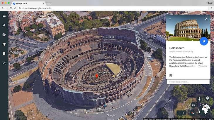 Das neue Google Earth mit neuen Features