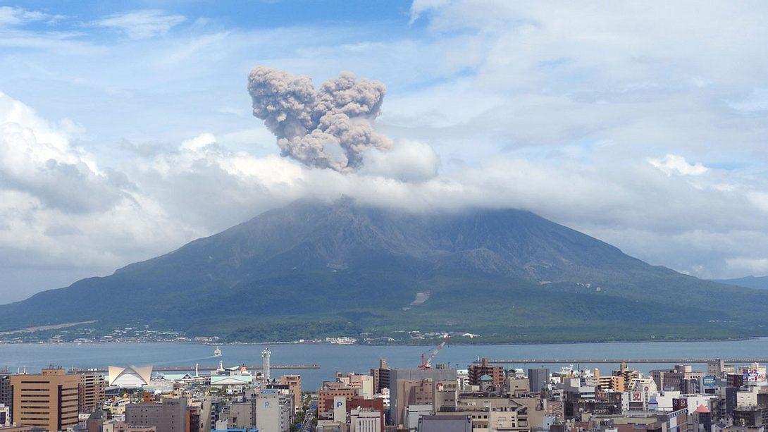 Vulkanausbruch : Sakurajima in Japan - Foto: iStock / yumenomatayume
