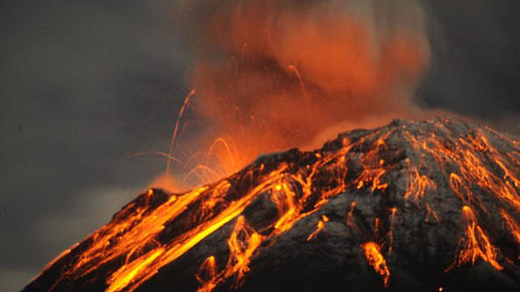 Schlafende Vulkane können jederzeit wieder Feuer speien