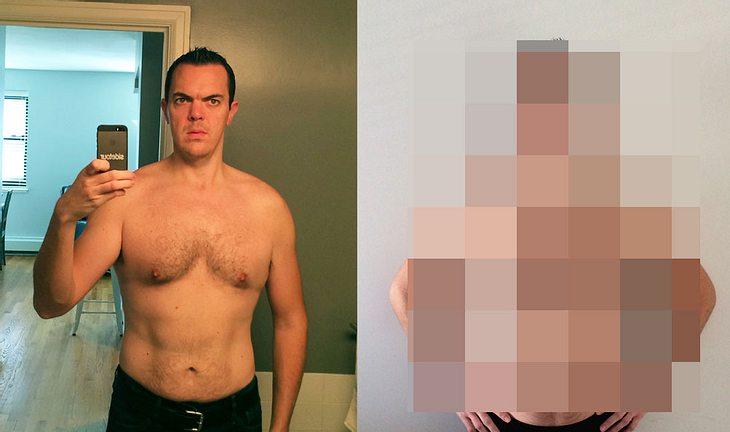 Mark Webster vor und nach seinem 30-Tage-The-Rock-Training