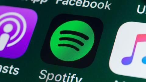 Icon der Spotify-App - Foto: iStock / stockcam