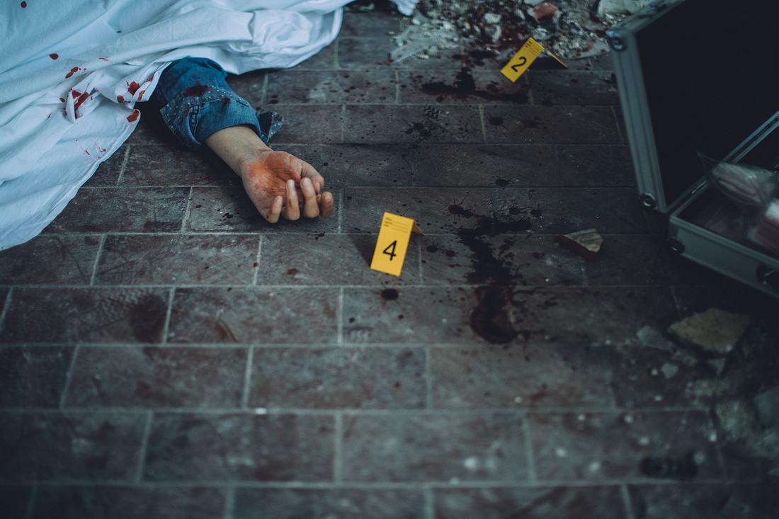 Leiche an einem Tatort